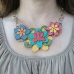Fall Color Chipboard Necklace