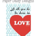 Valentine's Day Decor-free printable!