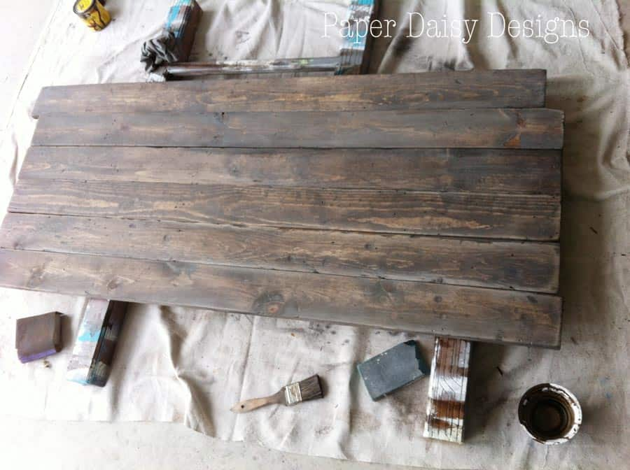 Build a Rustic Sofa Table amp Make New Wood Look Old : boardsdone from www.paperdaisydesign.com size 900 x 672 jpeg 93kB