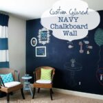 True Blue Navy Chalkboard Wall