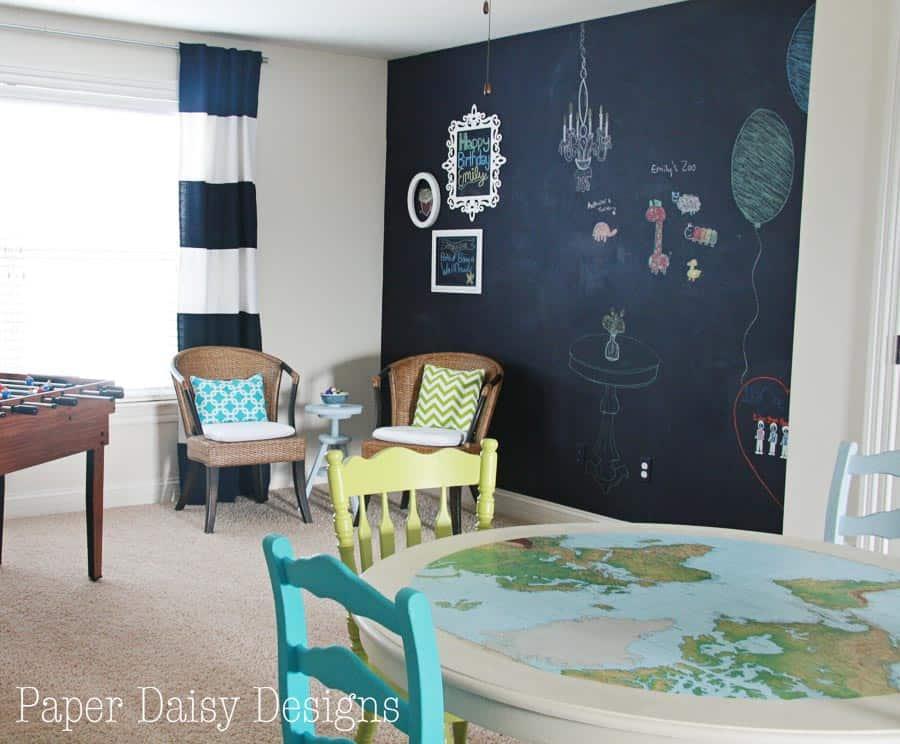 True Blue Navy Chalkboard Wall