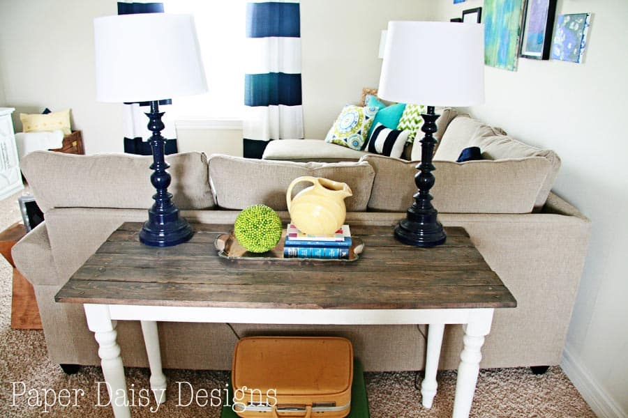 Build A Rustic Sofa Table Make New Wood Look Old