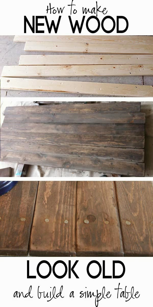 Make new wood look like old wood.