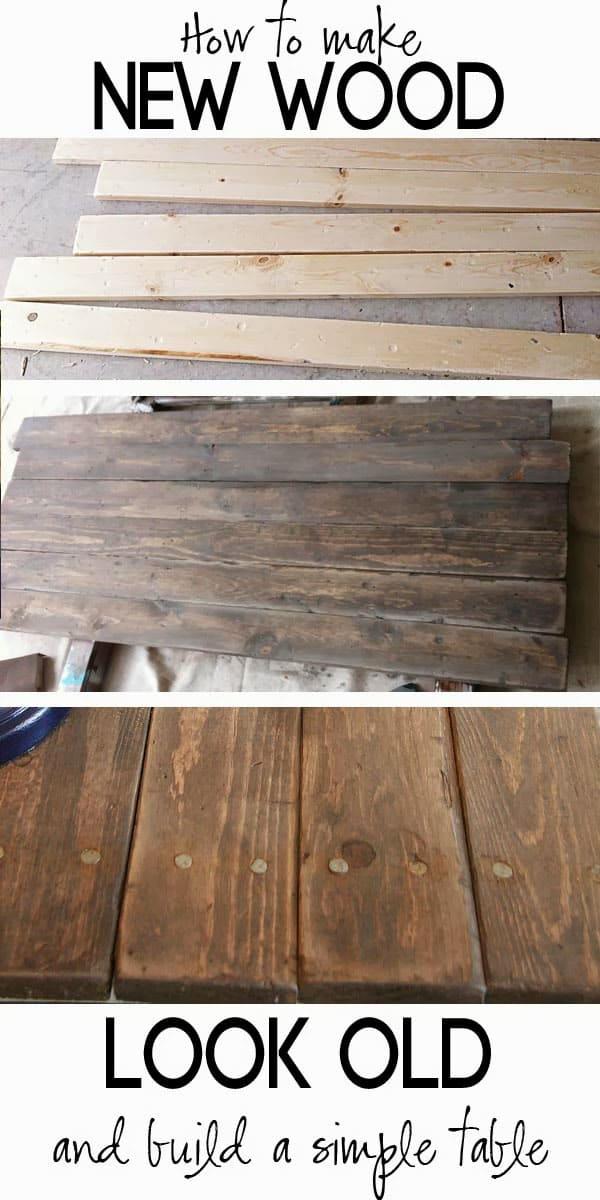 Make new wood look like old wood.