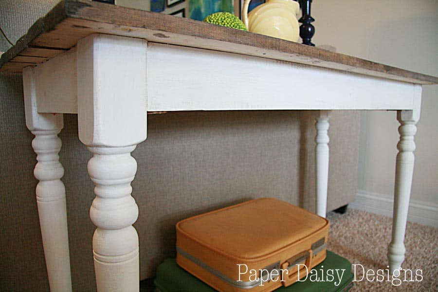 Build a Rustic Sofa TableMake New Wood Look Old