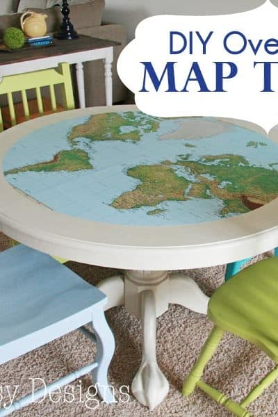 Map Table: How to cut an oversized circle
