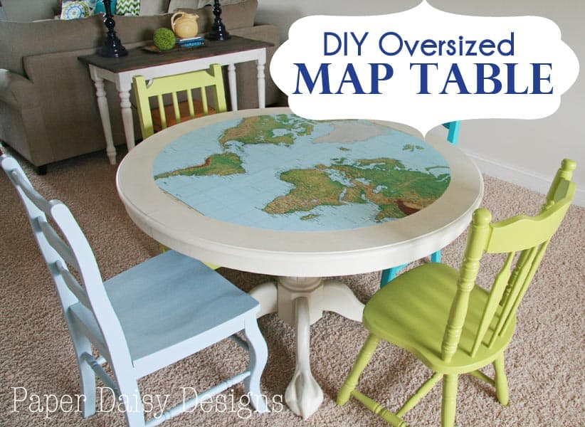 Map Table How to cut an oversized