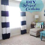 DIY Wide Stripe Curtains
