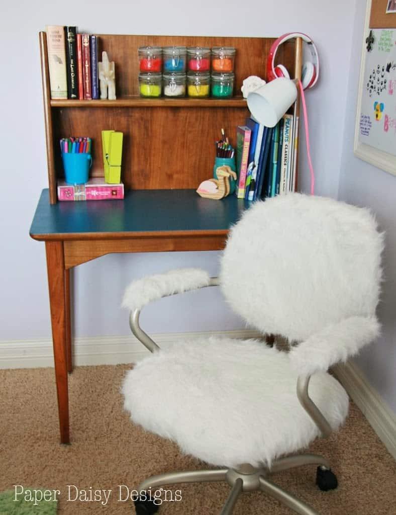 Furry Desk Chair Pottery Barn Hack