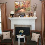 Fall Mantle with Extra Large DIY Art