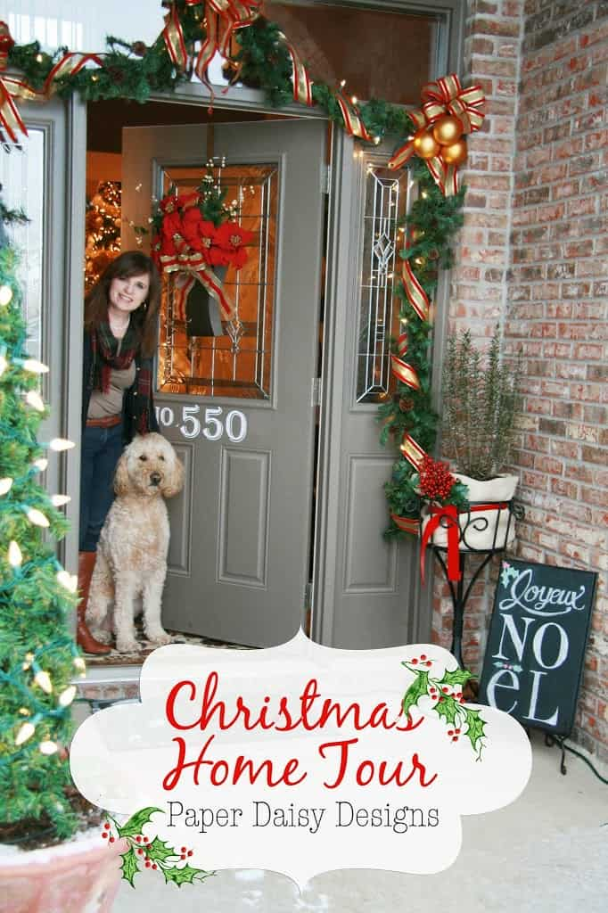 any visit to our home definitely includes a friendly greeting from our goldendoodle tucker unless your a delivery man so id be remiss if i didnt start - Goldendoodle Christmas Decorations