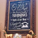 Gold and Glimmer Chalkboard Mantle, Christmas 2013