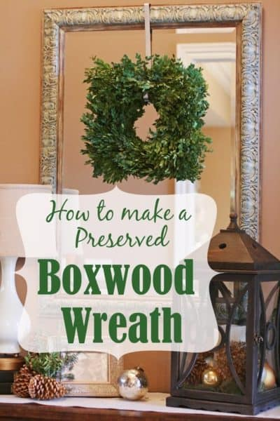 How To Make a Square Boxwood Wreath