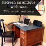 Antique desk makeover and my left-hand girl