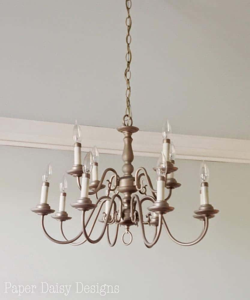 Chandelier makeover in minutes deeplysouthernhome aloadofball Images