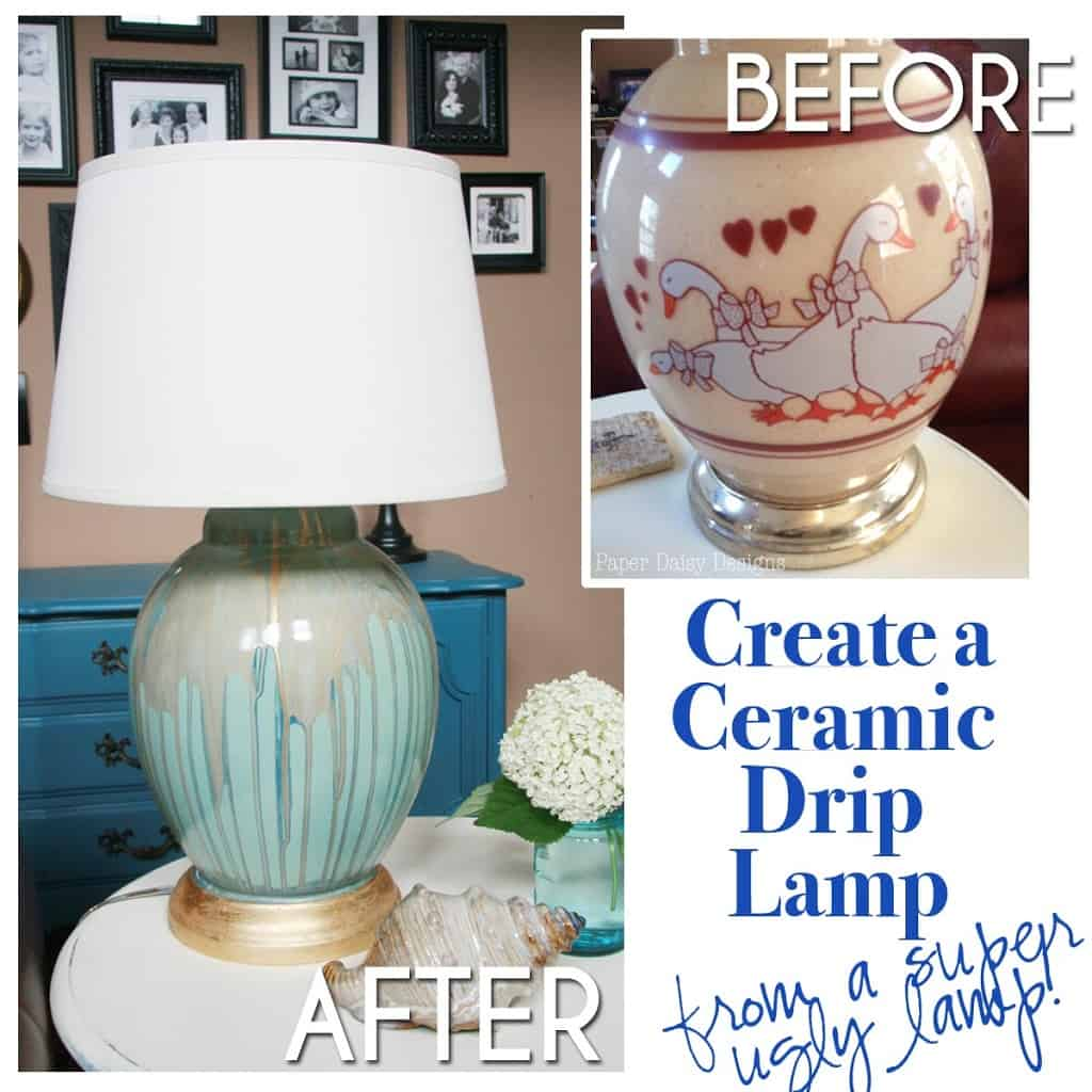 Five Ugly Ducks And How To Create A Ceramic Drip Lamp Deeplysouthernhome