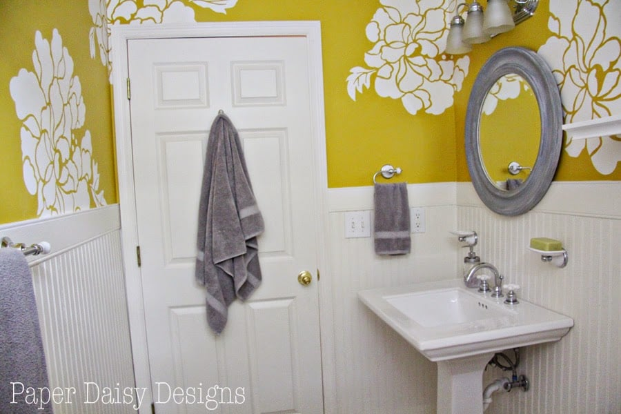 The One Roll Transformation - DeeplySouthernHome Anthropologie Bathroom Designs on waterworks bathroom design, kelly wearstler bathroom design, houzz bathroom design, ikea bathroom design,
