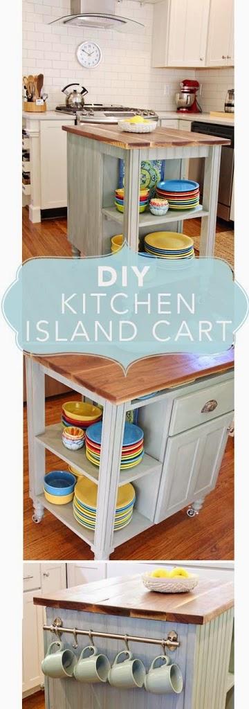 Diy Kitchen Island Cart diy kitchen island cart -