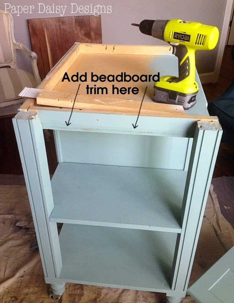 DIY Kitchen Island Cart - DeeplySouthernHome