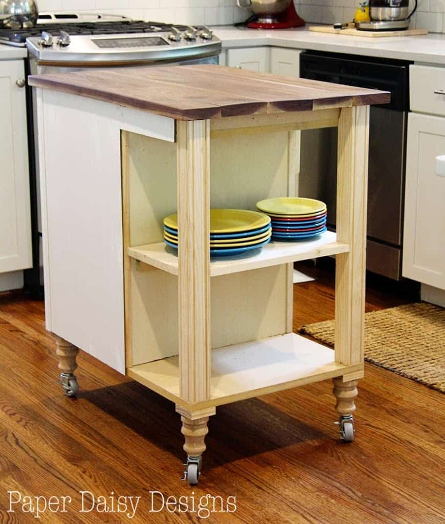 kitchen island cart diy diy kitchen island cart 5012
