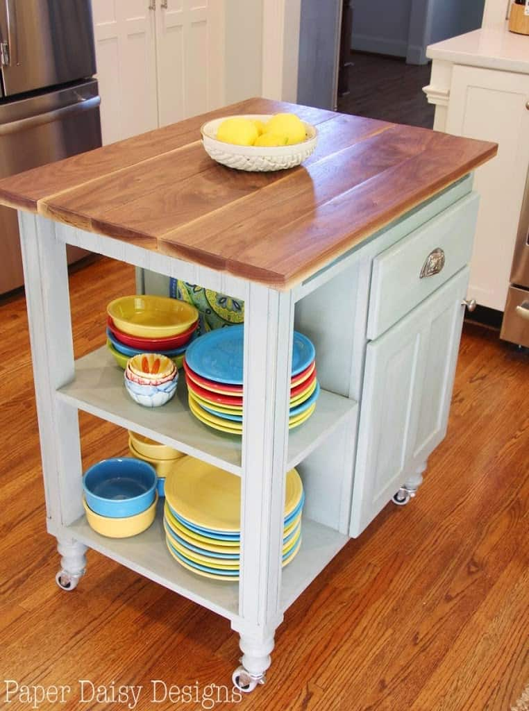 nice How To Build Your Own Kitchen Island #6: We love our our new kitchen and the island cart is just one piece of it. I  hope you are inspired to build your own. Itu0027s a super handy, functional  piece!