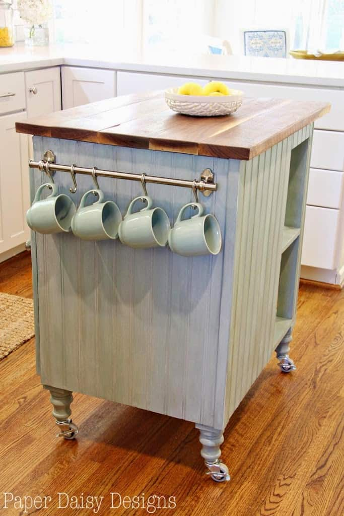 DIY Kitchen Island Cart | DeeplySouthernHome