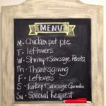 Menu Plan Monday, Thanksgiving Week