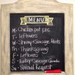 Menu Plan Monday, Thanksgiving Week