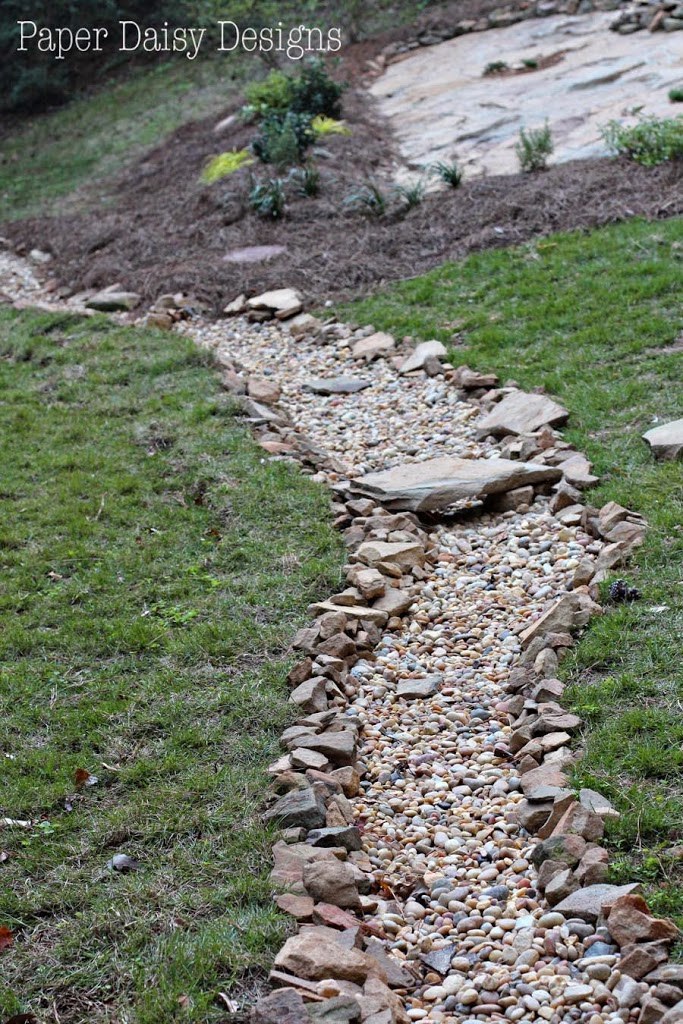 A Dry Creek Bed, for beauty and drainage - DeeplySouthernHome