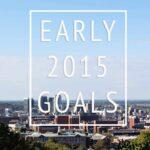 Looking Ahead, Early 2015 Goals
