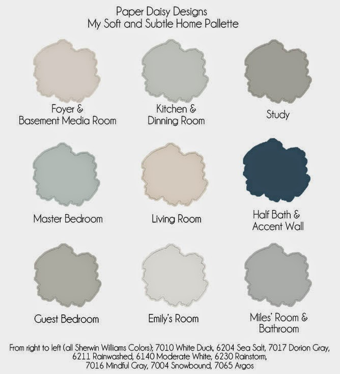 The power of paint sherwin williams painting week - Whole house interior paint palette ...