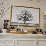 Cheerful Winter Mantle & Winter Scene Printable