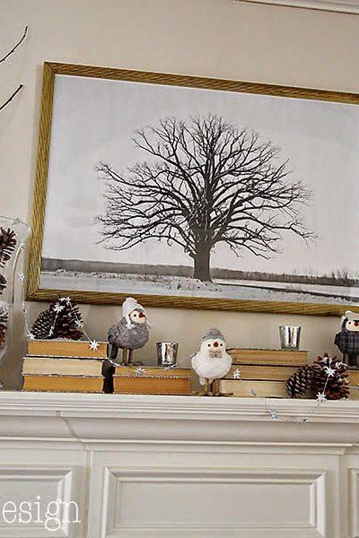 Cheerful Winter Mantle & Winter Scene Printable
