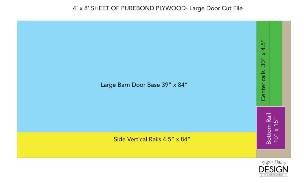 Barn Door Building Plan/Paper Daisy Design