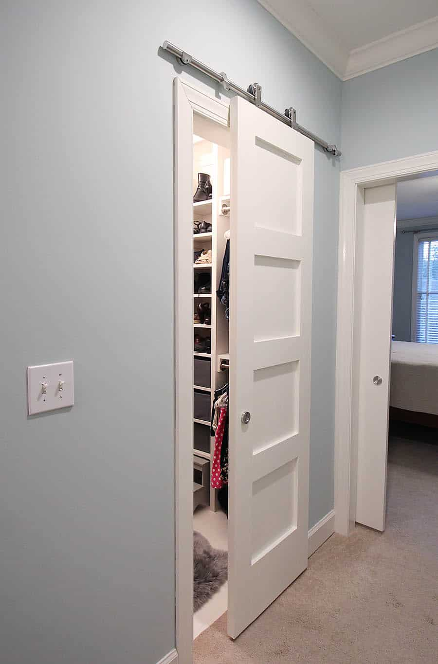 Modern barn door hardware review and instructions for Closet door ideas