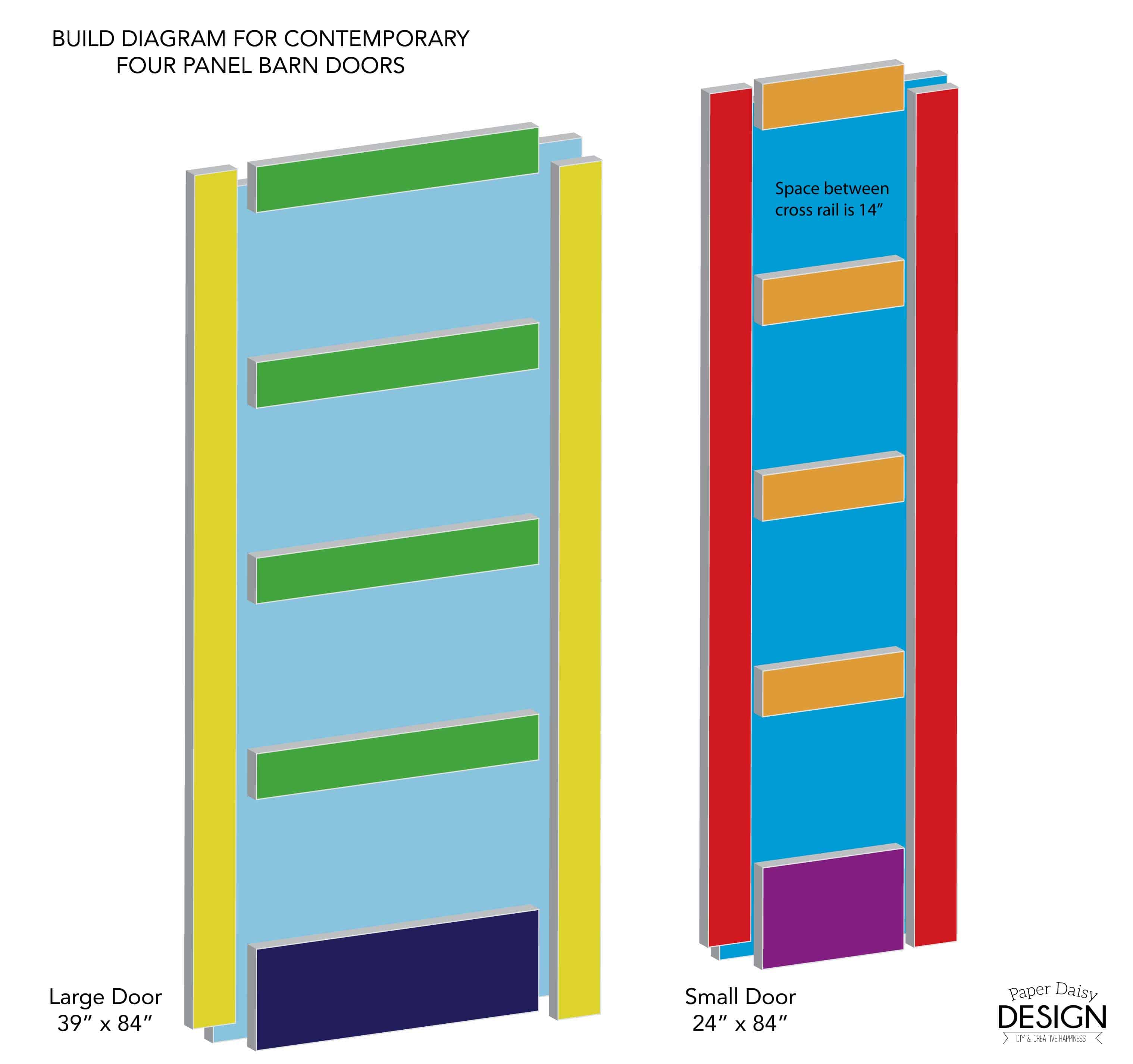 Build it contemporary 4 panel barn door for 50 for Panel house plans