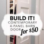 Build it: Contemporary 4-Panel Barn Door for $50