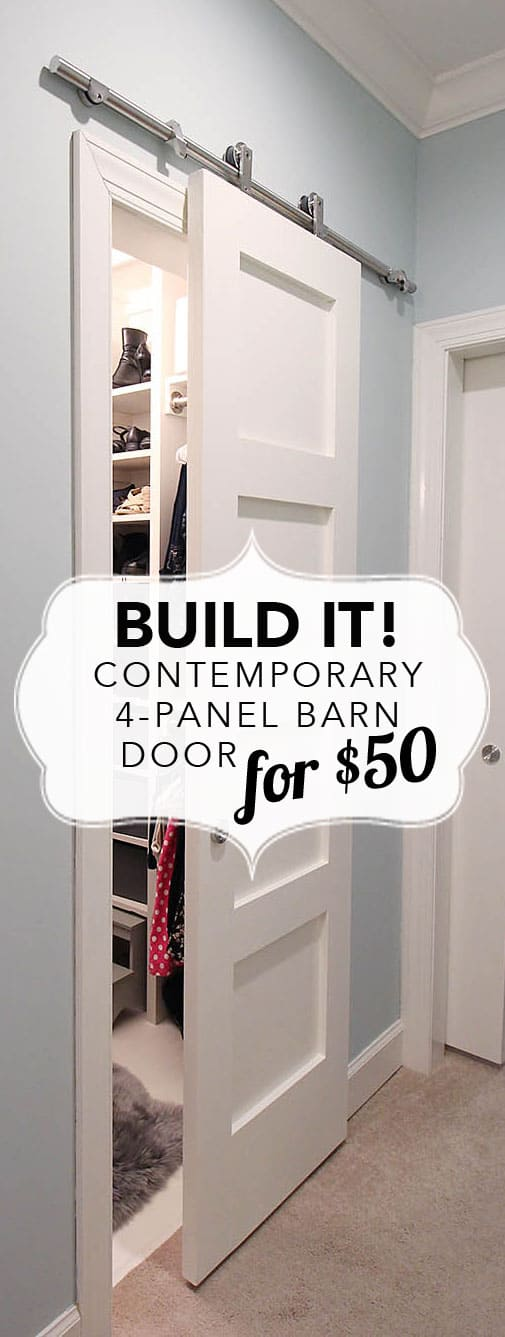 Build It Contemporary 4 Panel Barn Door For 50 Deeplysouthernhome
