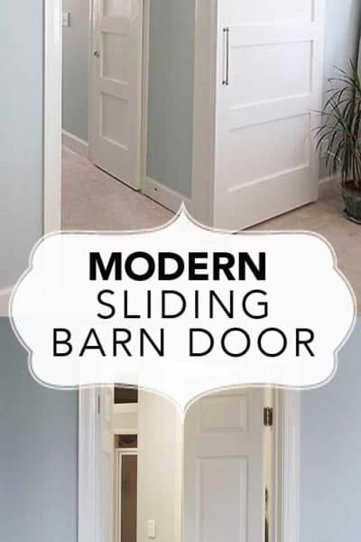 Modern Barn Doors:  An easy solution to awkward entries