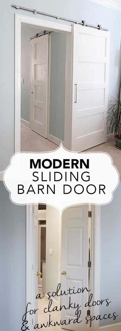 Modern Barn Doors An Easy Solution To Awkward Entries - How to install bathroom door