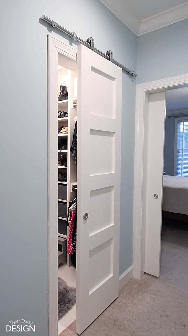 from cluttered mess to mini dressing room a diy closet. Black Bedroom Furniture Sets. Home Design Ideas