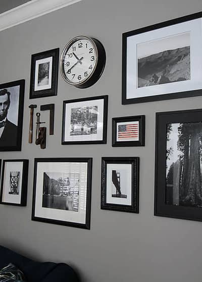 Office Gallery Wall: Americana Gallery Wall