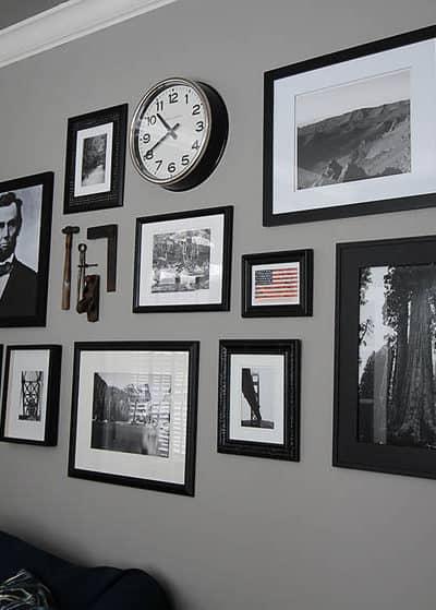 Office Gallery Wall: Americana Gallery Wall