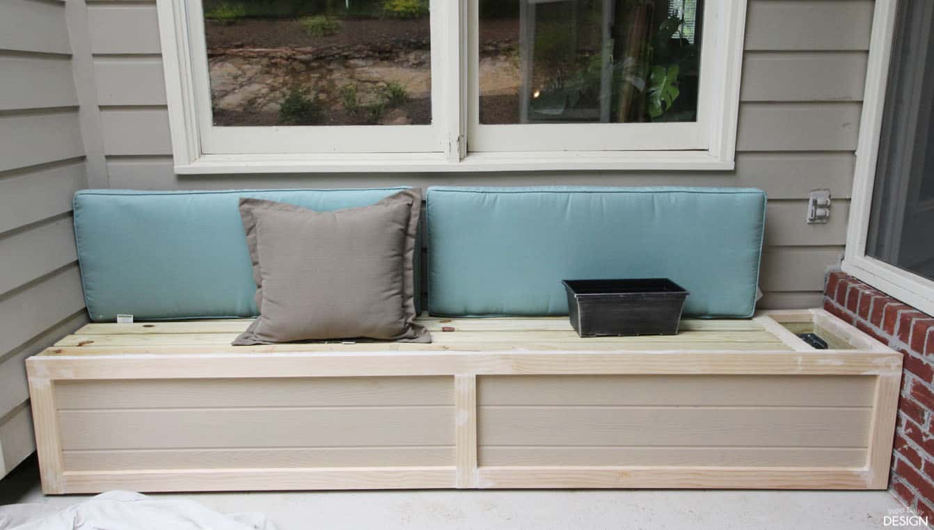 Easy DIY Outdoor Banquette/Bench · DeeplySouthernHome