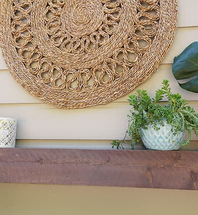 Rustic Mantel for Under $15