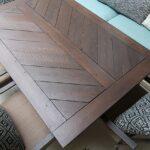 Split Herringbone Patio Tabletop