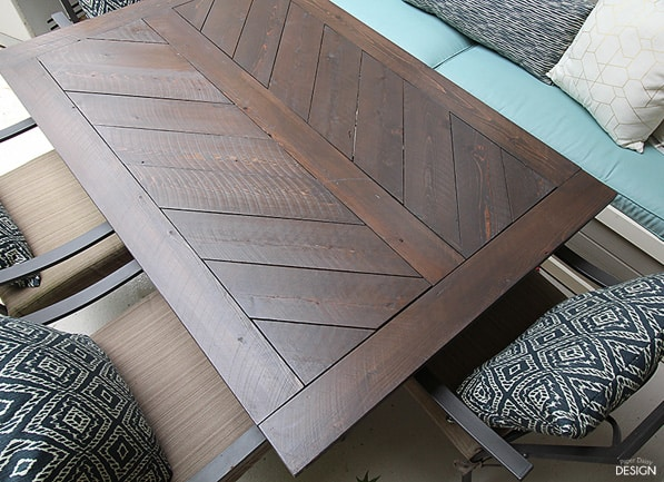 Split Herringbone Patio Tabletop Deeplysouthernhome