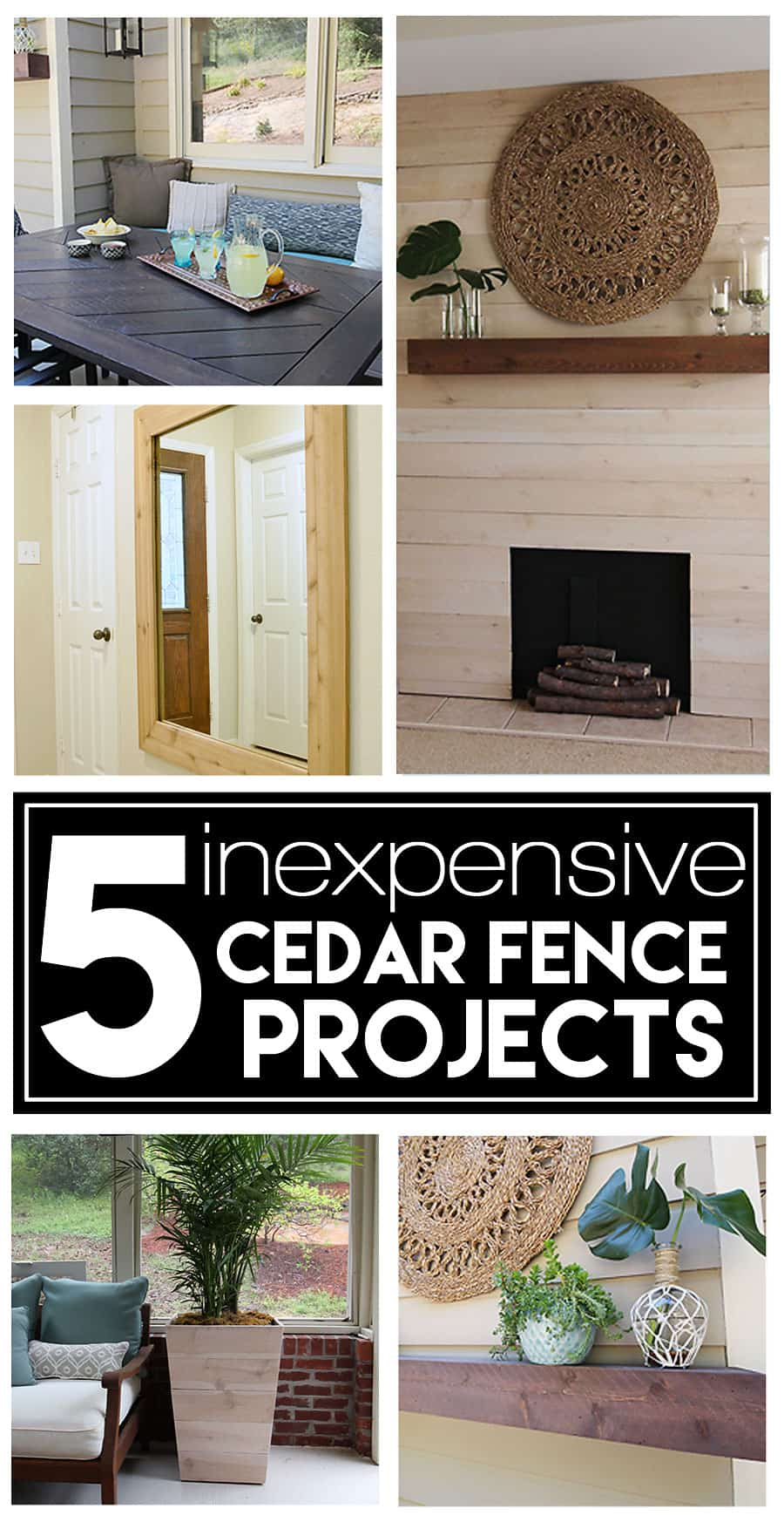 Do It Yourself Home Design: 5 Inexpensive DIY Projects Using Cedar Fence Boards