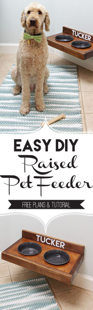 Raised Pet Feeder DIY/PaperDaisyDesign.com