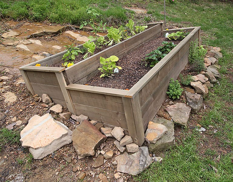 How To Build An Organic Raised Bed On A Sloped Yard Deeplysouthernhome